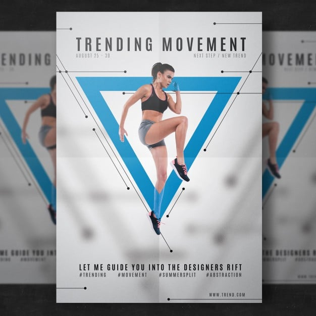 fitness brochure templates - free customizable fitness flyer mockup in psd designhooks