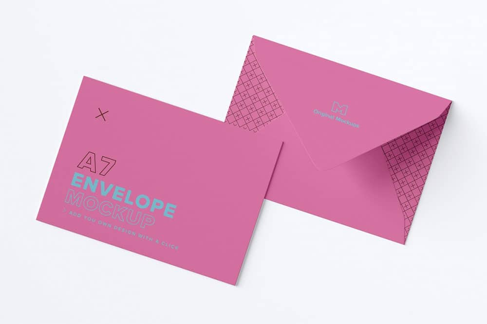 Free Download A7 Envelope Mockup In PSD