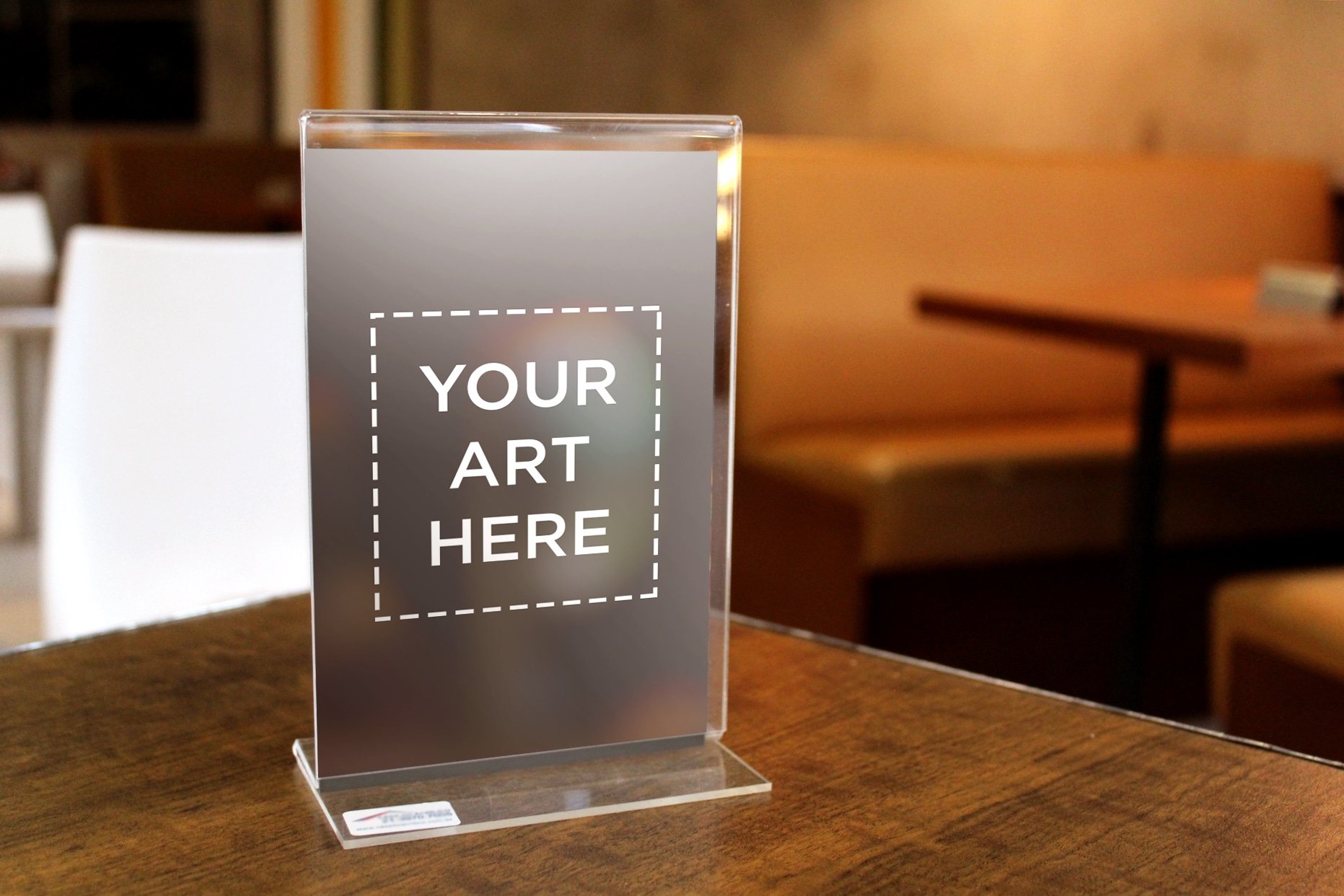 download this free acrylic table standee in psd