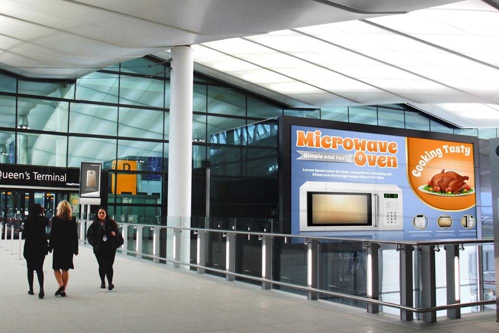 free airport billboard mockup
