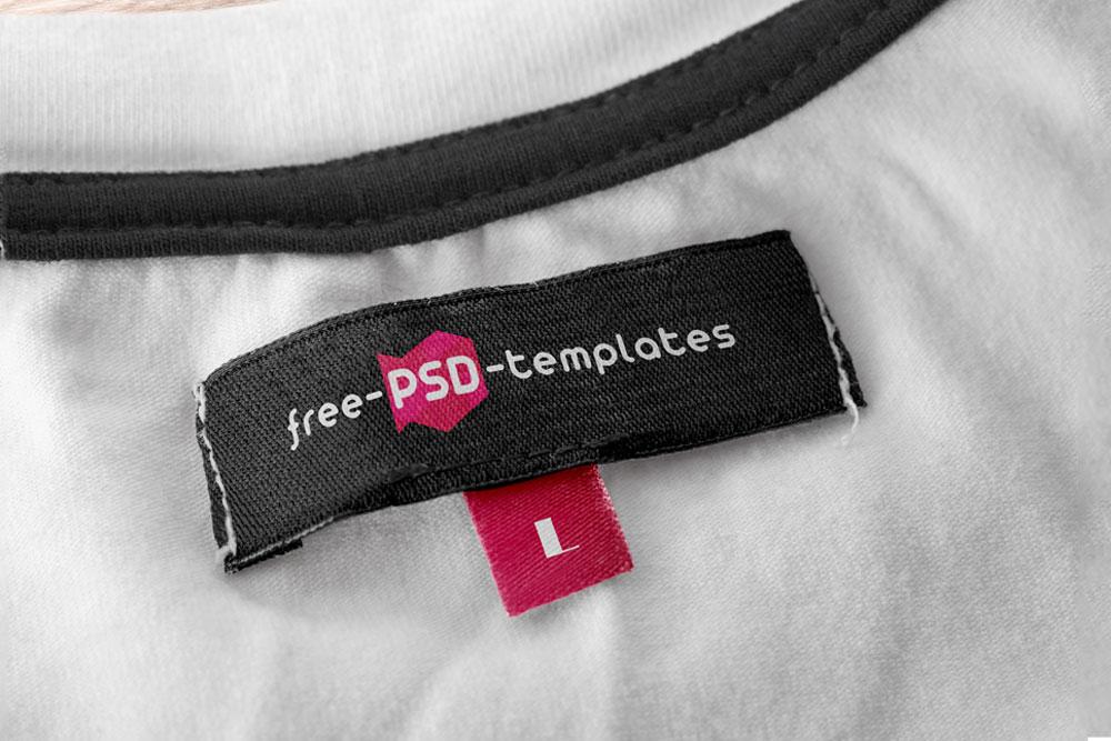 free apparel tag mockup
