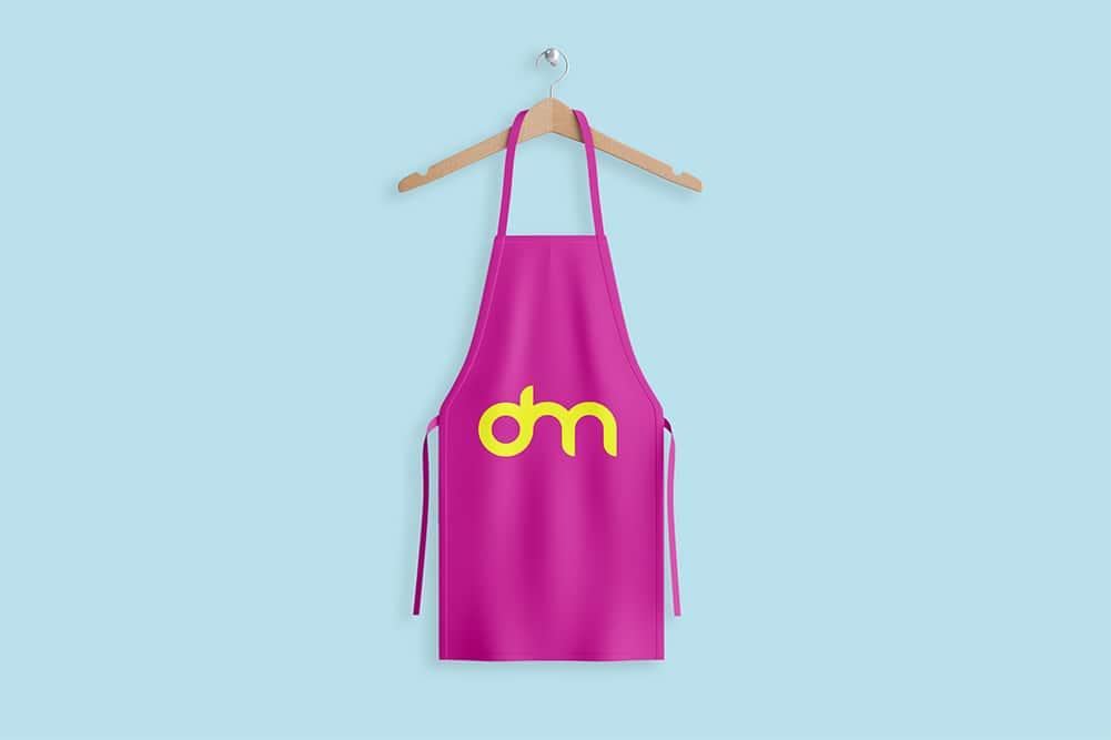 free apron mockup