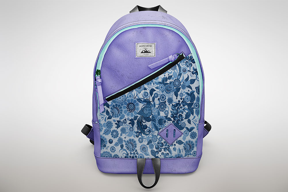 free backpack mockup