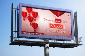 2 Free Billboard Mockup in PSD