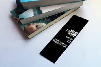 Free Promotional Bookmark Mockup in PSD