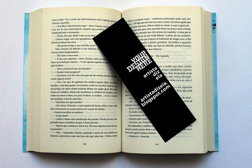 free bookmark mockup