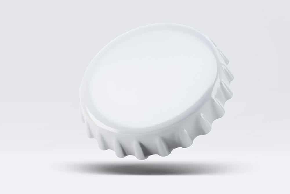 free bottle crown cap mockup