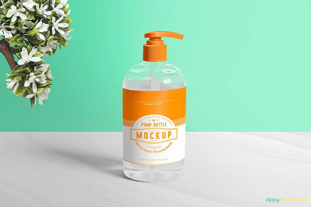free bottle top dispenser mockup