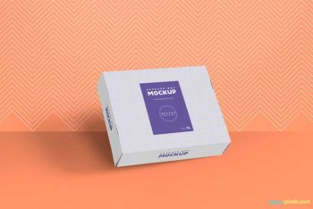 Free Box Packaging Mockup in PSD