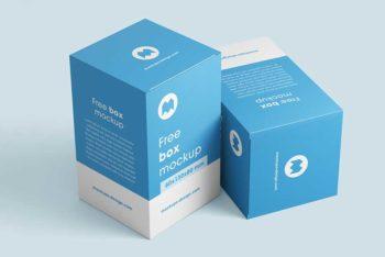Free Box Mockups in PSD