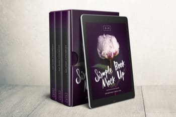 Free Box Set Mockup with eReader