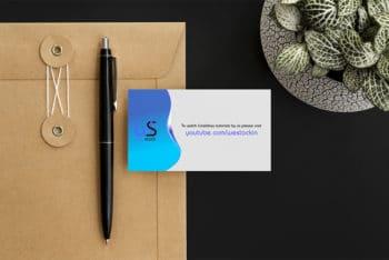 Free Minimal Business Card PSD Mockup