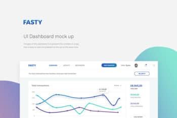 Free Dashboard PSD Mockup