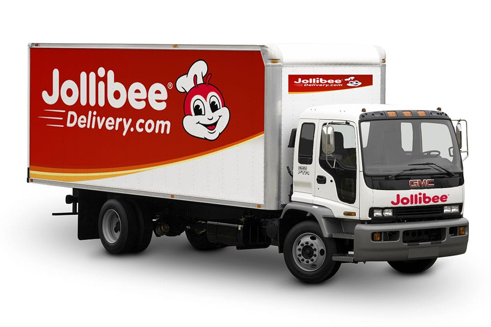 free delivery truck mockup