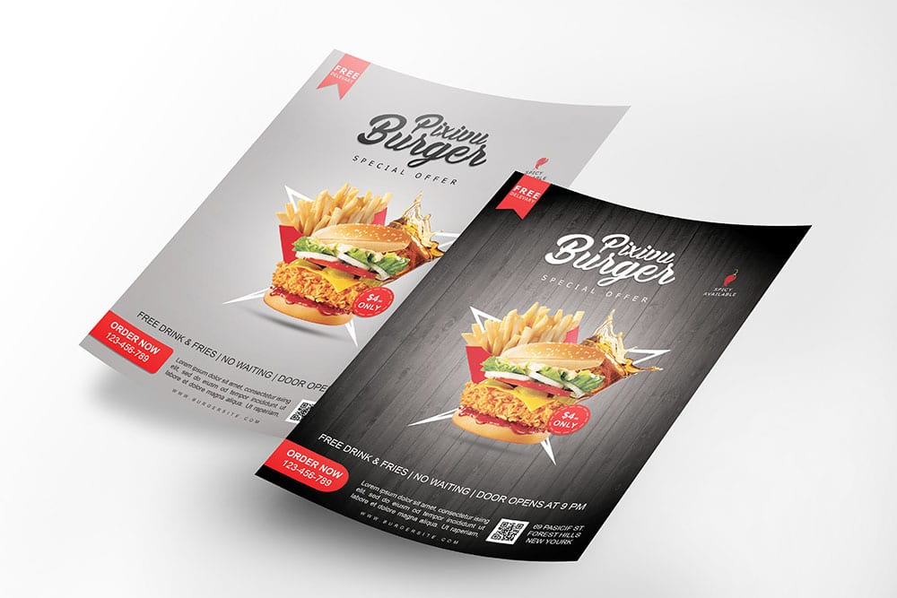 free download flyer mockup in psd