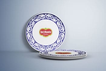 Free Download Plate Mockup in PSD