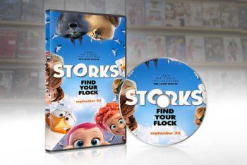 Free DVD Cover Mockup in PSD