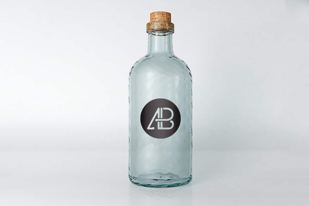 free empty bottle mockup