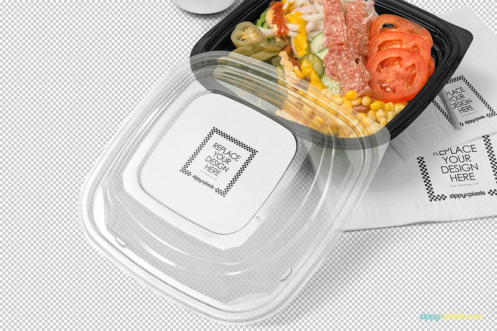 free food box mockup