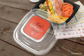 Free Food Box Mockup in PSD