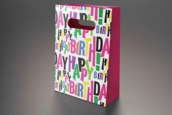 Free Gift Bag PSD Mockup