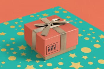 Fully Customizable Free Gift Box Mockup