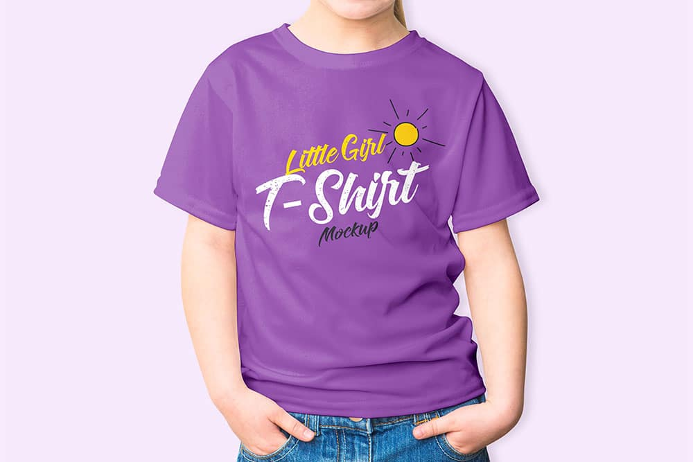 free girl shirt mockup
