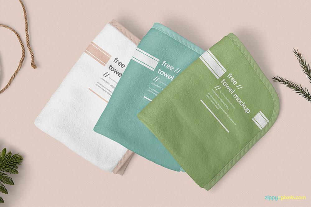 free hand towel mockup