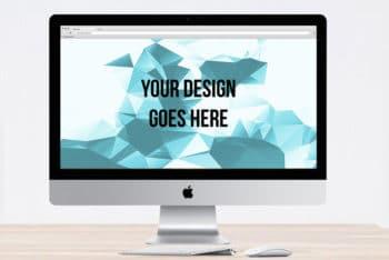 Free iMac Mockup in PSD
