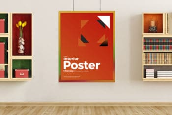 Free Indoor Poster Mockup in PSD