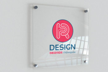 Free Indoor Signage Mockup in PSD