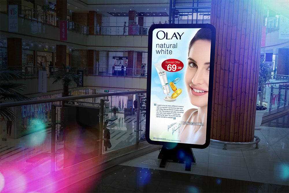 free instore advertising mockup