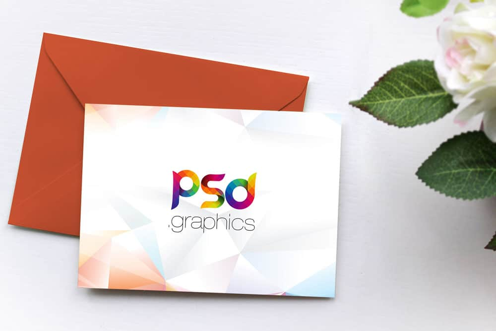Download This Free Invitation Card Mockup in PSD Designhooks