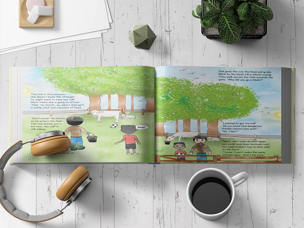 Download This Free Landscape Book Mockup in PSD - Designhooks