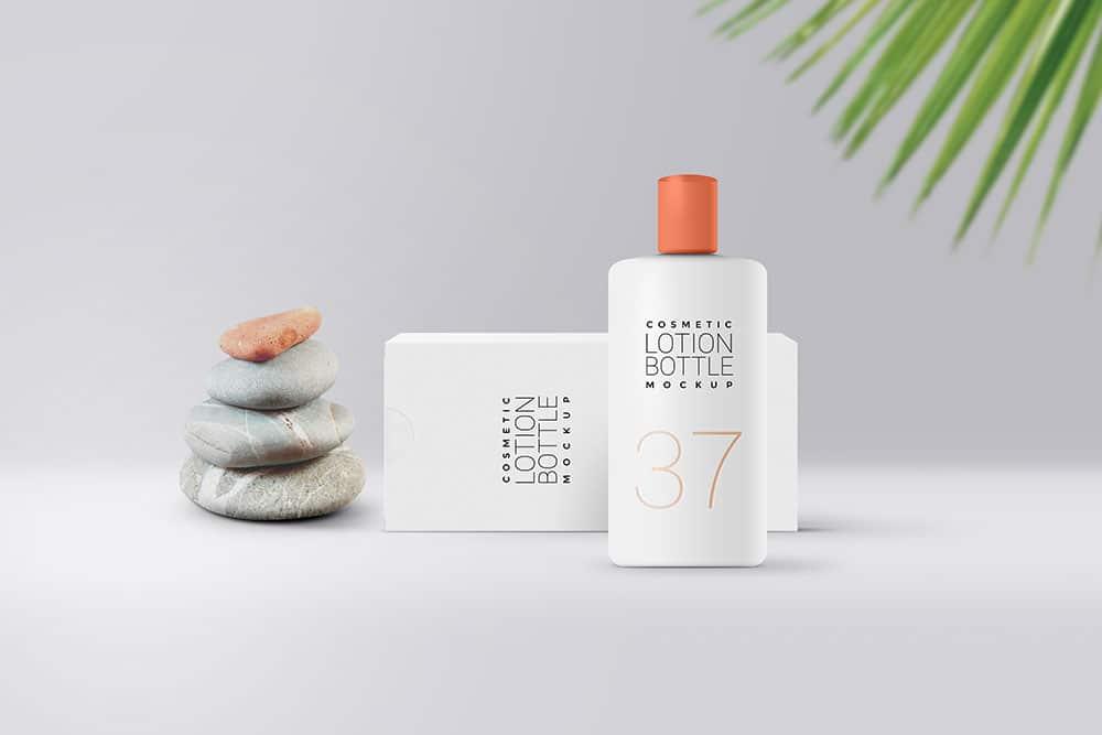 free lotion packaging mockup
