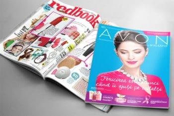 Free Magazine Brochure Mockup in PSD