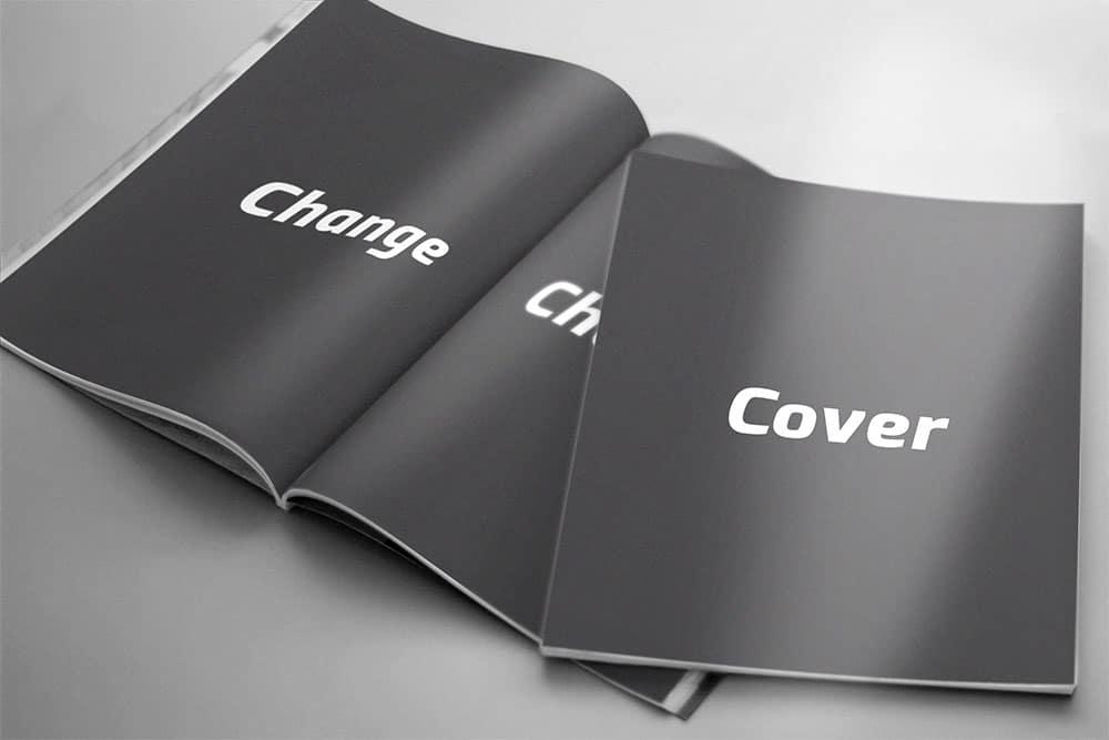 free magazine brochure mockup