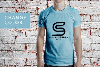 Free Shirt PSD Mockup for Men