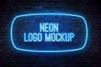 Free Neon Mockup in PSD