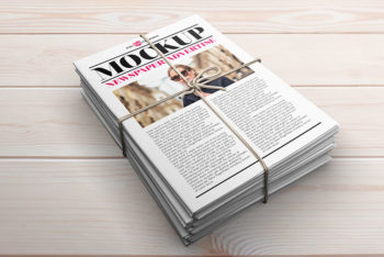 3 Free Newspaper Advert Mockup in PSD
