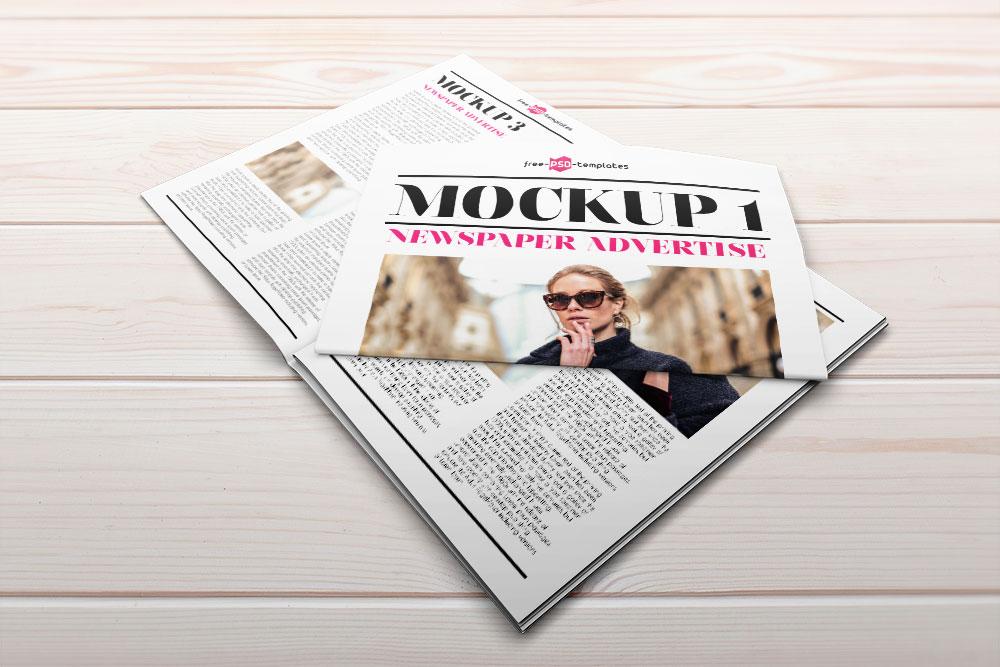free newspaper advert mockup