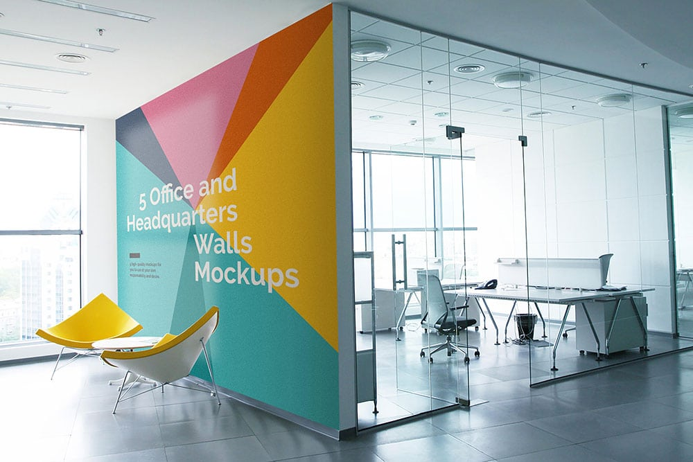 Download this free office wall mockups in psd designhooks for Interior design images free download