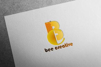 Free Paper Pad Logo Mockup in PSD