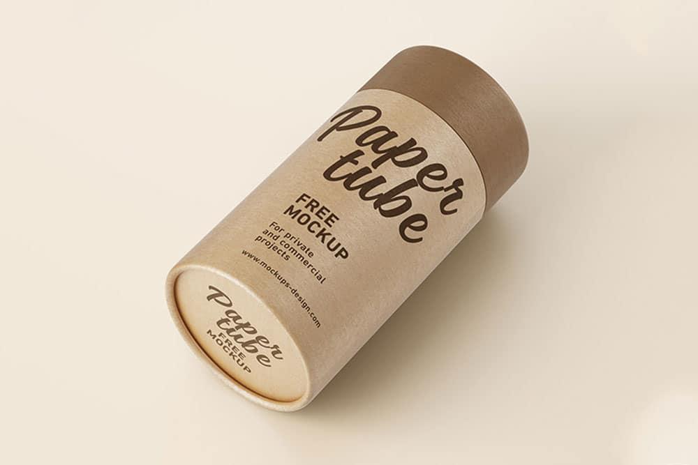 free paper tube psd mockup
