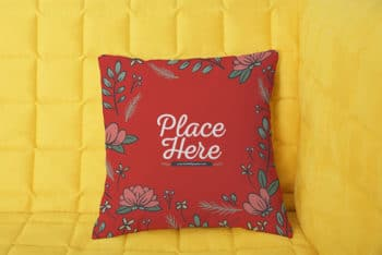 Free Soft Pillow Mockup