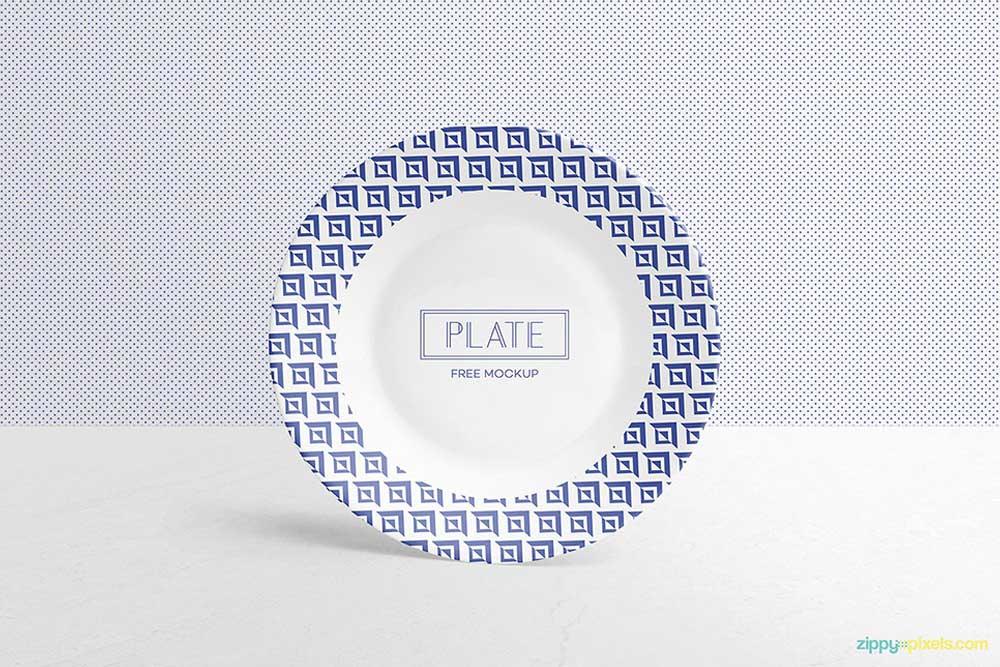 free plate mockup