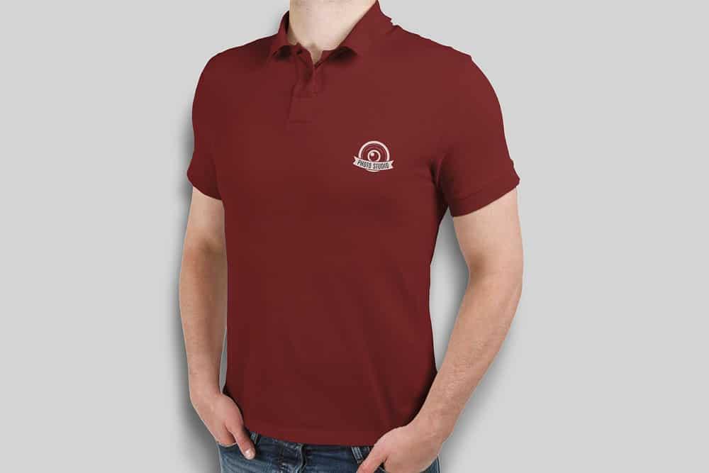 free polo shirt mockup