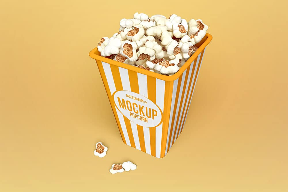free popcorn psd mockup