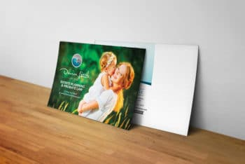 Free Postcard Mockup in PSD