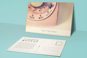 Beautiful and Free Postcard Mockup